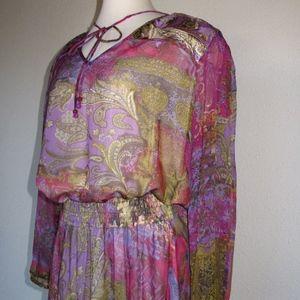 Diane Freis NOS XL 2 piece Skirt Top Dress